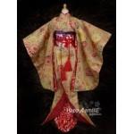 [Для BJD 1/3 / 1/4] Кимоно красное традиционное