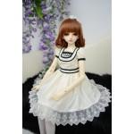 [Для BJD 1/3 / 1/4] Платье белое 2