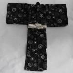 [Для BJD 1/3 / 1/4 / 70 см] Кимоно черные круги