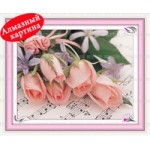 [Алмазная вышивка] Букет роз
