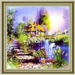 [Алмазная вышивка] Дом у озера
