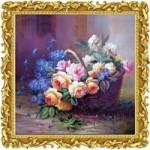 [Алмазная вышивка] Цветы в корзине