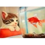 [Алмазная вышивка] Кот и рыбка