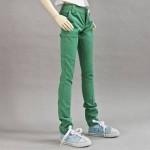 [Для BJD 1/3 / 1/4 / 70 см] Джинсы зеленые
