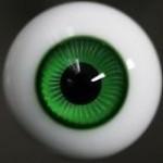 [10mm/ 12mm/ 14mm/ 16mm/ 18mm/ 20mm] Глаза зеленые спираль
