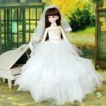 [Для BJD 1/3 / 1/4 / 70 см] Свадебное платье 2