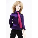[Для BJD 1/3 / 1/4/ 70 см ] Рубашка фиолетовая