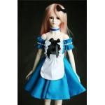 [Для BJD 1/3 / 1/4] Платье голубое