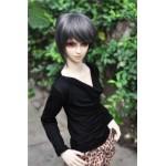 [Для BJD 1/3 / 1/4 / 70 см] Рубашка черная